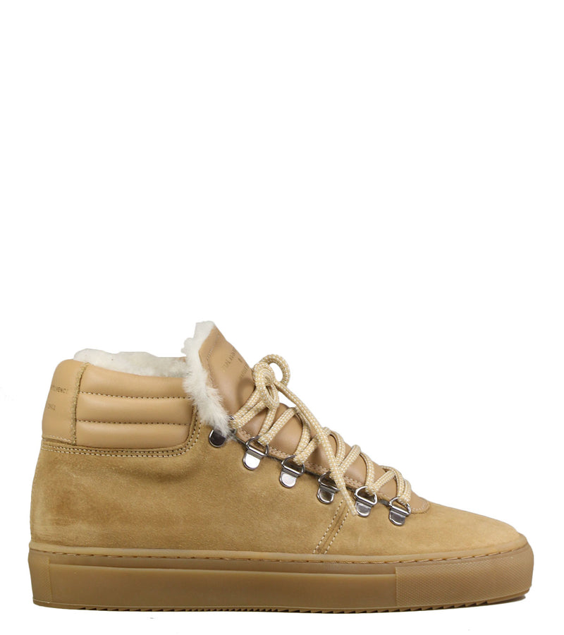 Sneakers fourrées montagne Zespa Zsp2 Suede Shearling Biscuit