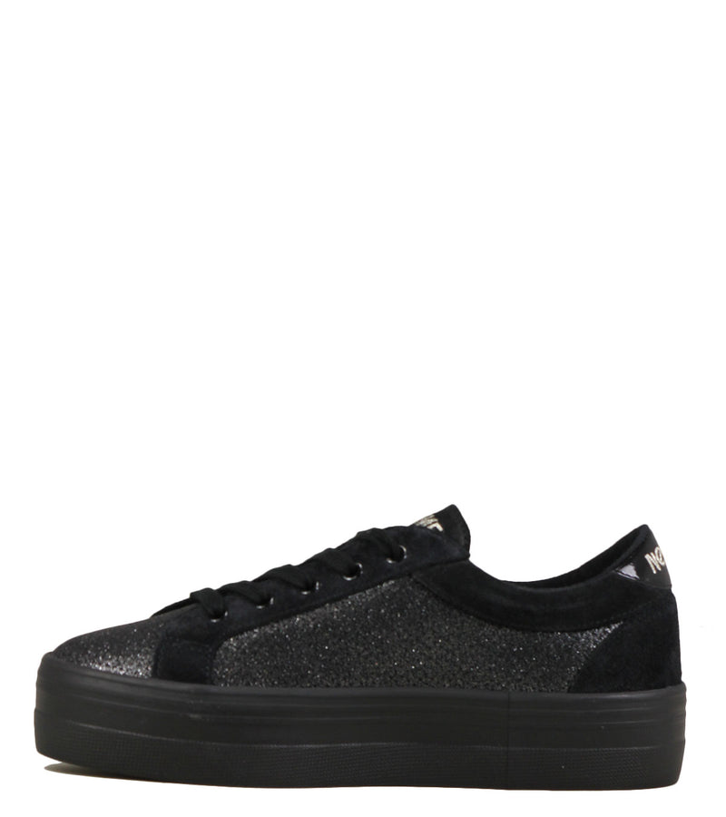 Baskets à plateau No Name Plato Bridge All Star Suede Black