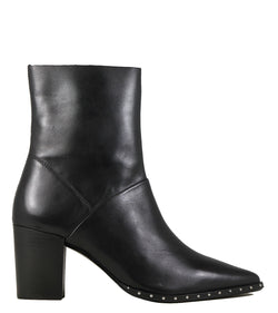 Boots en cuir noir et clous Bronx Americana Black Leather