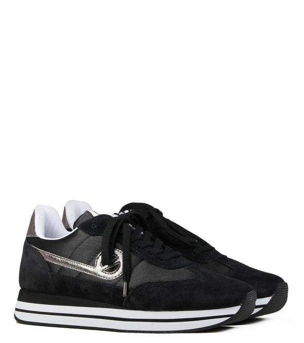 No Name Eden Jogger Beam Suede Black