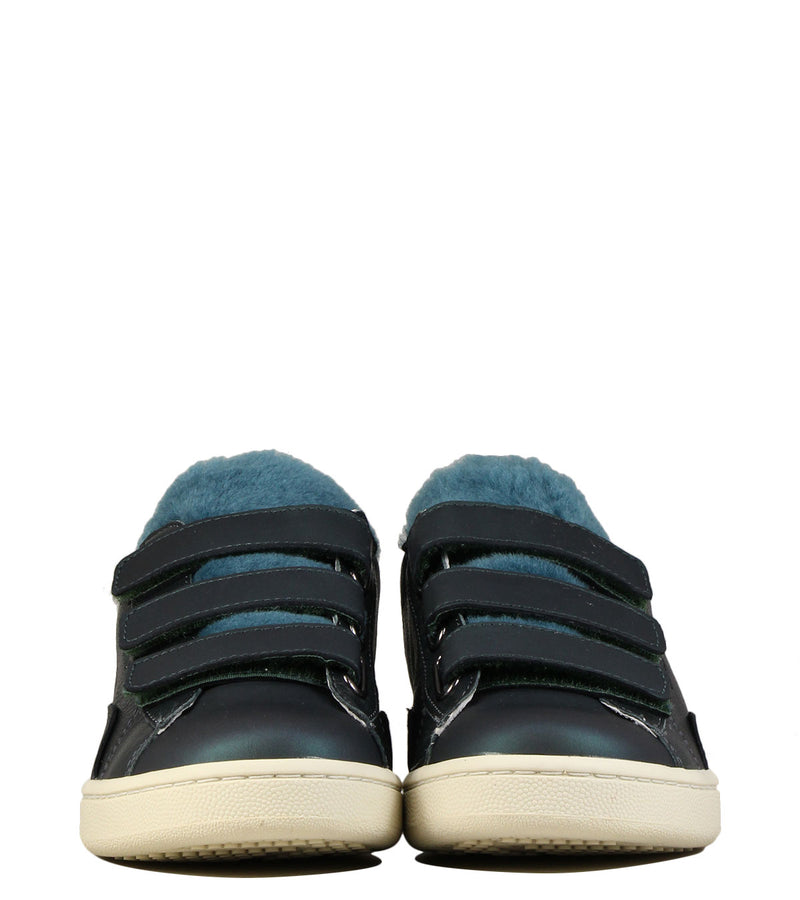 Sneakers velcros en cuir 0-105 Stan Scratch Deep Green