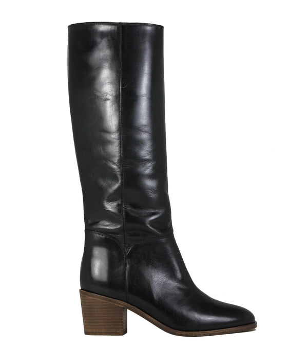 Bottes vintage en curi noir Sessun Barry Black