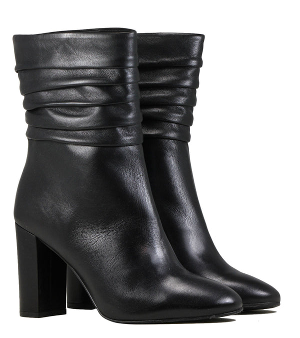 Boots en cuir noir The Seller S8128 Nappa Nero
