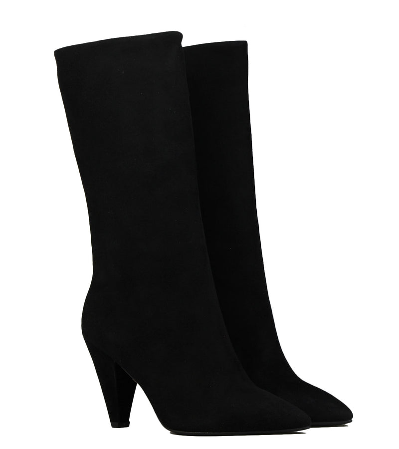 Mi-bottes The Seller S8145 Camoscio Nero