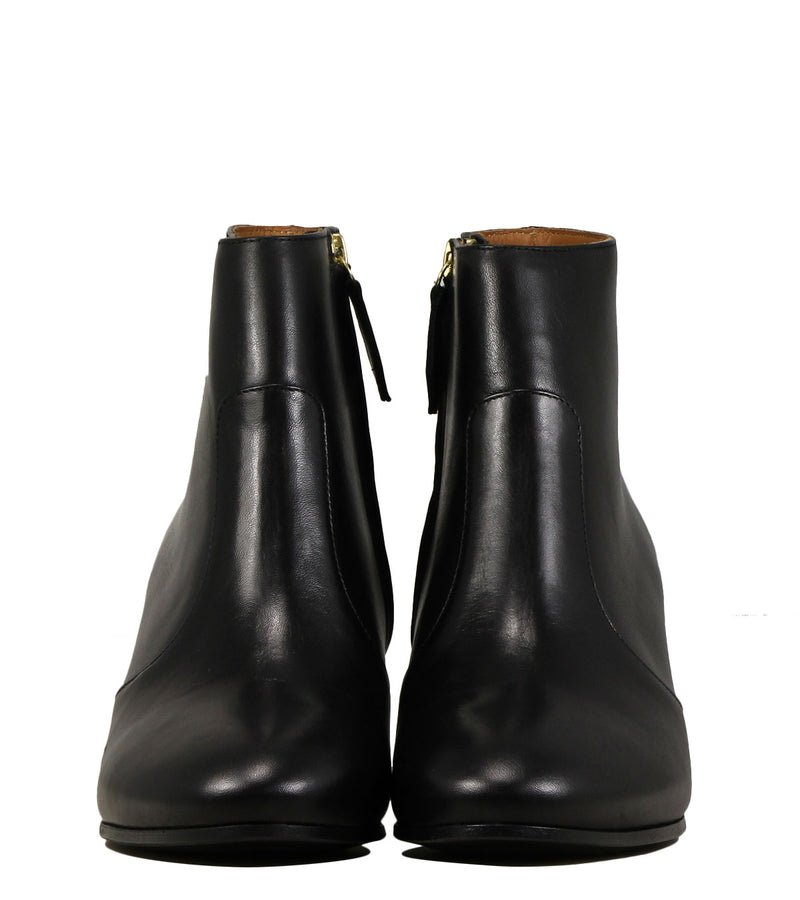 Bottines à petit talon Rivecour 207 Cuir Noir