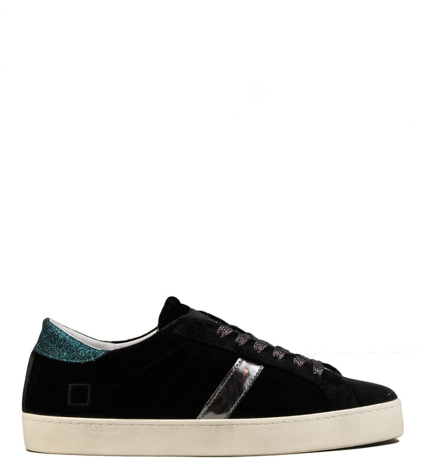 D.A.T.E Hill Low Velvet Black