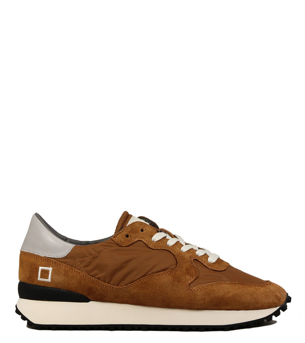 Sneakers en cuir camel D.A.T.E Spike Nylon Naturel