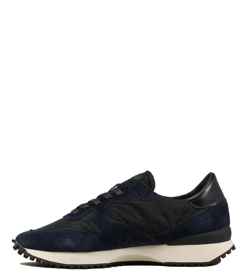 Sneakers en cuir navy D.A.T.E Spike Nylon Black Blue