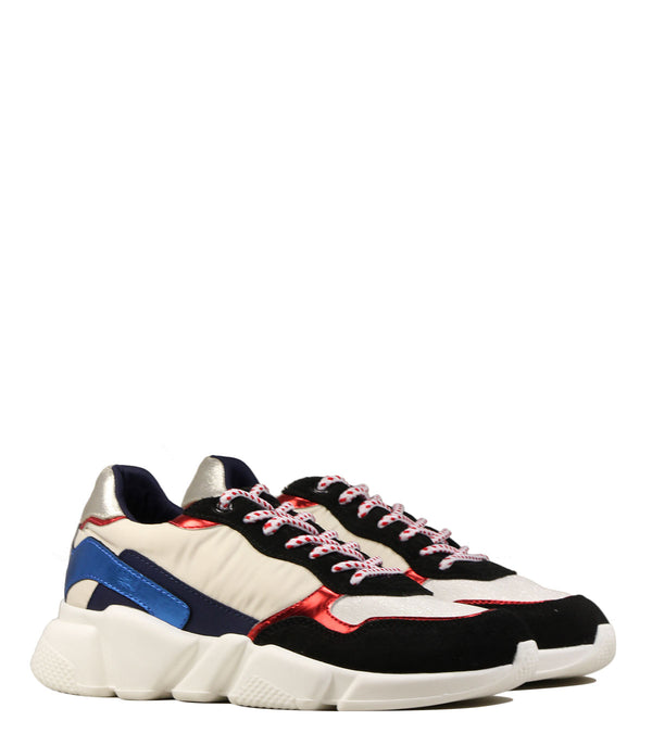 Baskets oversize Serafini Oregon White Blue Red