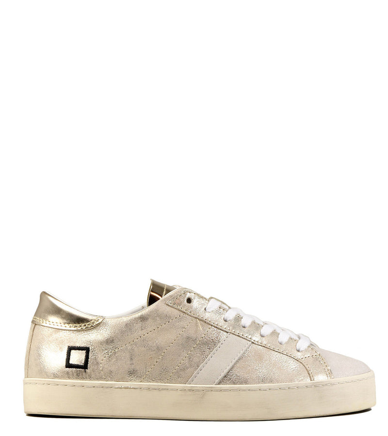 Sneakers irisées or D.A.T.E Hill Low Stardust Platinum