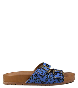 Nu-pieds Inuovo 5135 Royal Blue Print Animalier