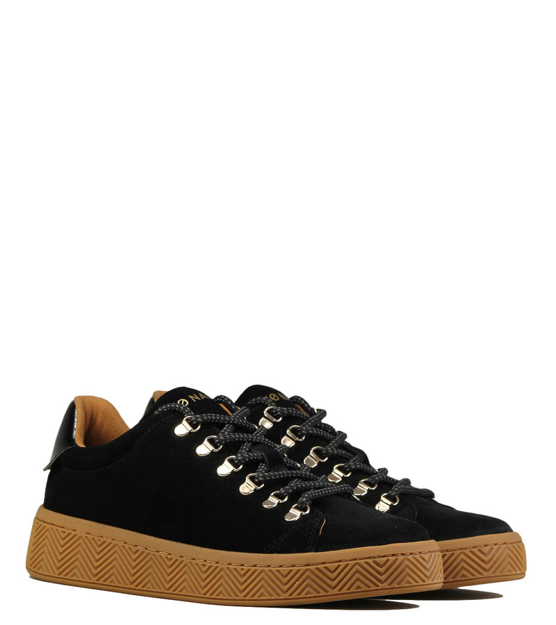 Sneakers montagne No Name Ginger Sneaker Suede Black