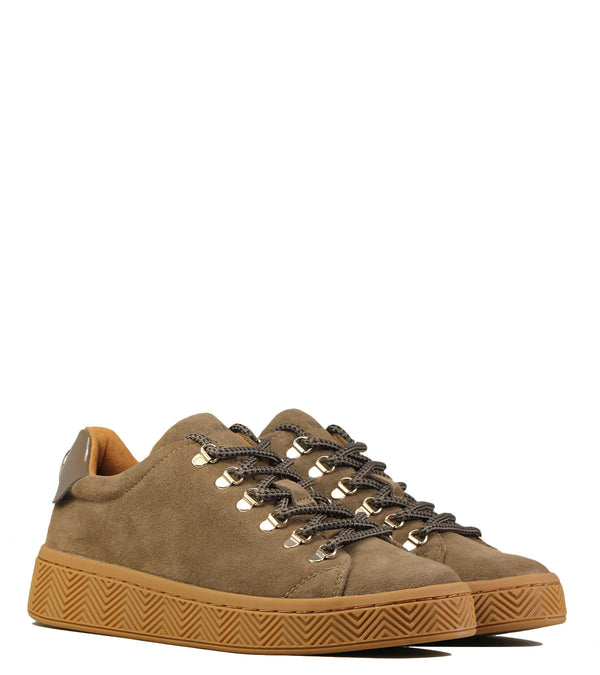 No Name Ginger Sneaker Suede Taupe