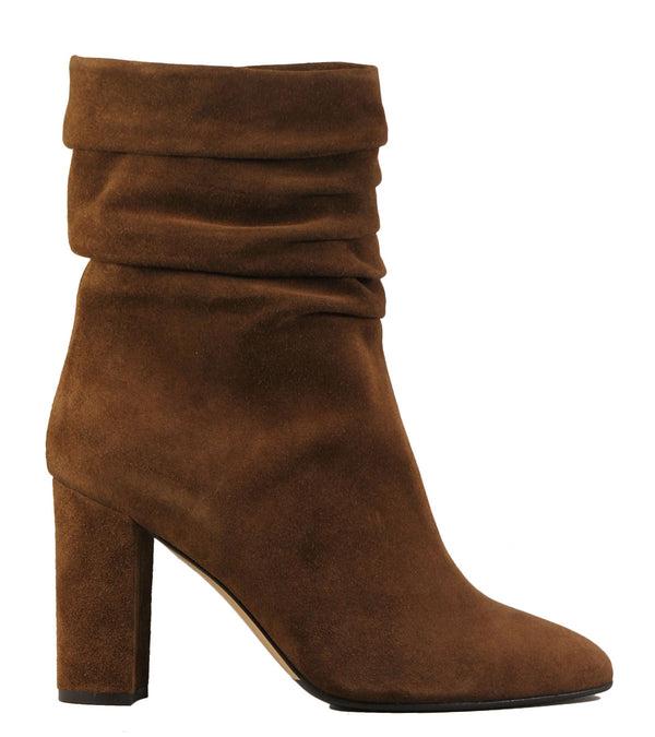 Boots en cuir velours naturel The Seller S8128 Crosta Cuoio