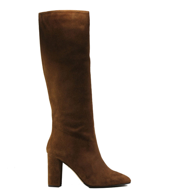 Bottes en cuir velours marron The Seller S8071 Crosta Cuoio
