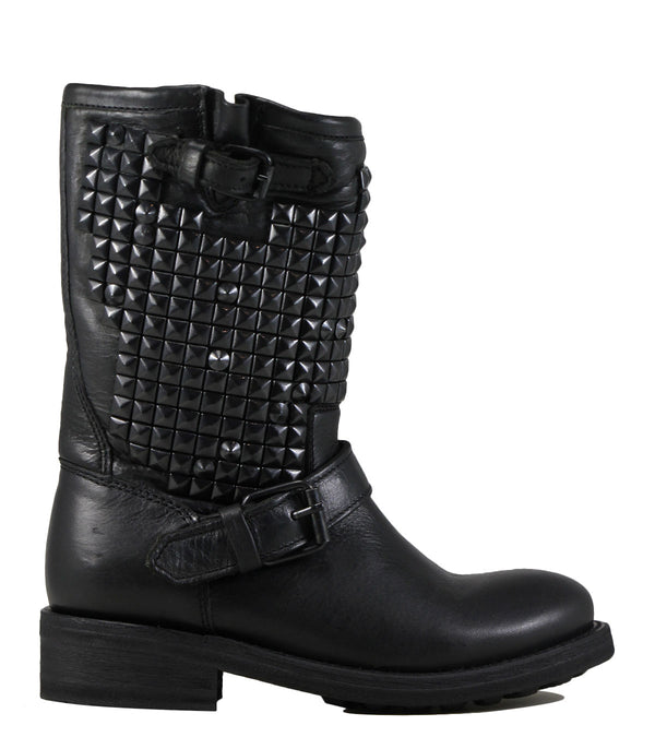 Boots motardes cloutées Ash Trash Black Studs
