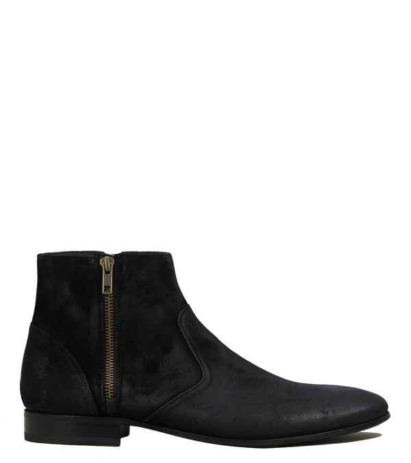 Boots en cuir noir Pete Sorensen Hurricane low Black Wax