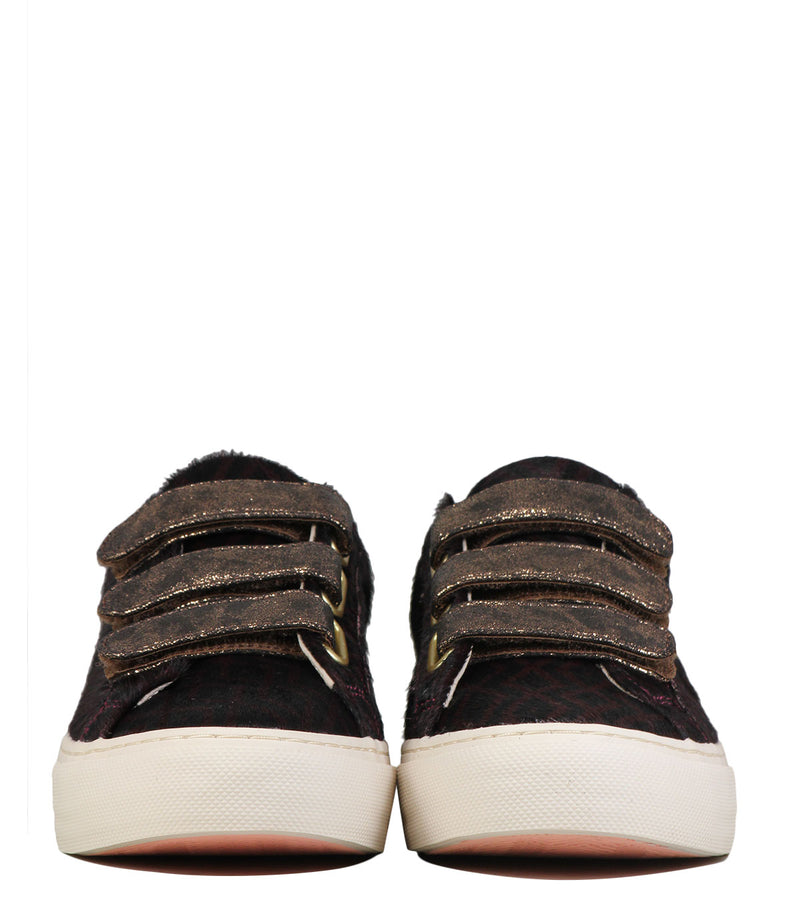 Sneakers imprimé No Name Arcade Straps Zoo Burgundy