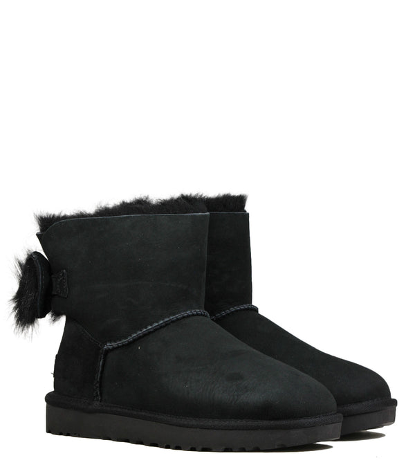 UGG Fluff Bow Mini Black