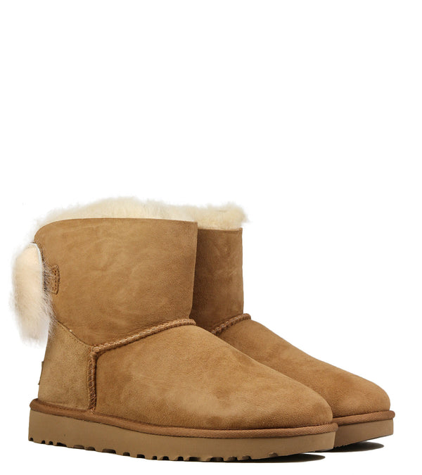 UGG Fluff Bow Mini Chestnut
