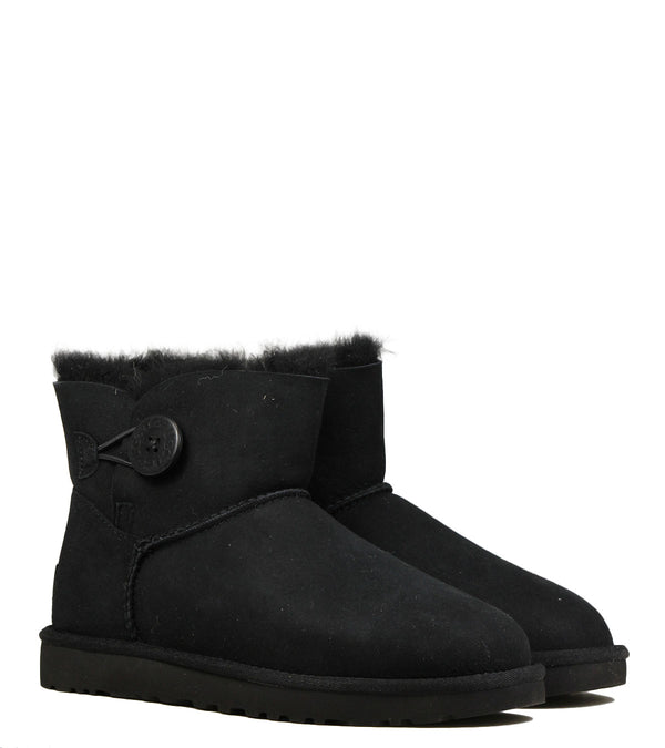 Boots fourrées UGG Mini Bailey Button Black