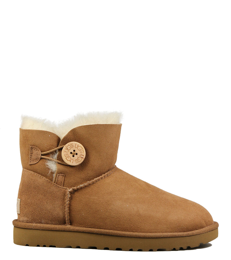Boots fourrées UGG Mini Bailey Button Chestnut