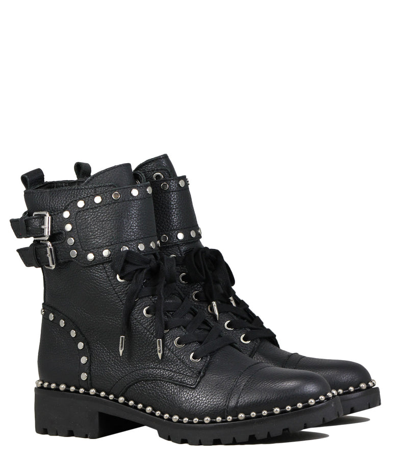 Boots style rangers Sam Edelman Jennifer Black Leather