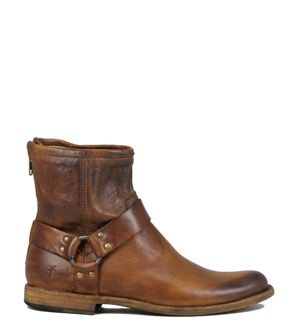 Frye Phillip Harness Cognac Men