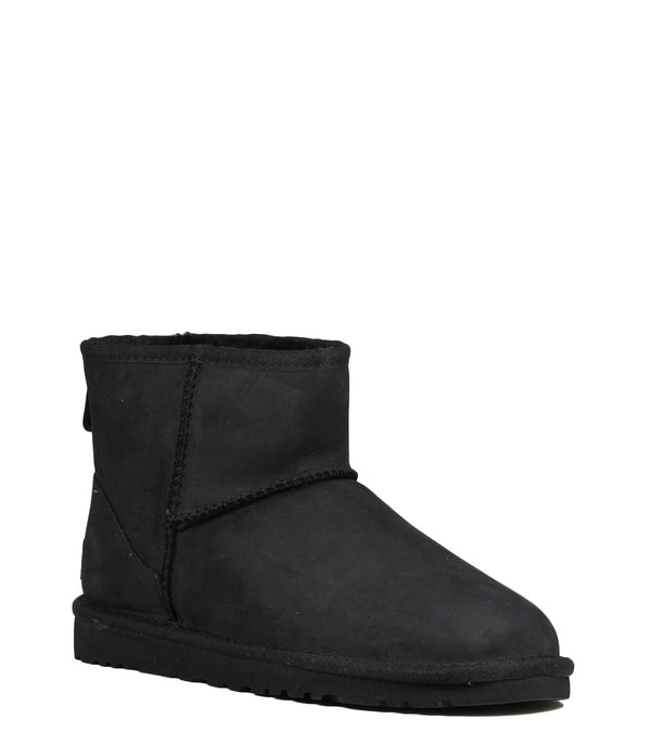 UGG Classic Mini Leather Black Boots
