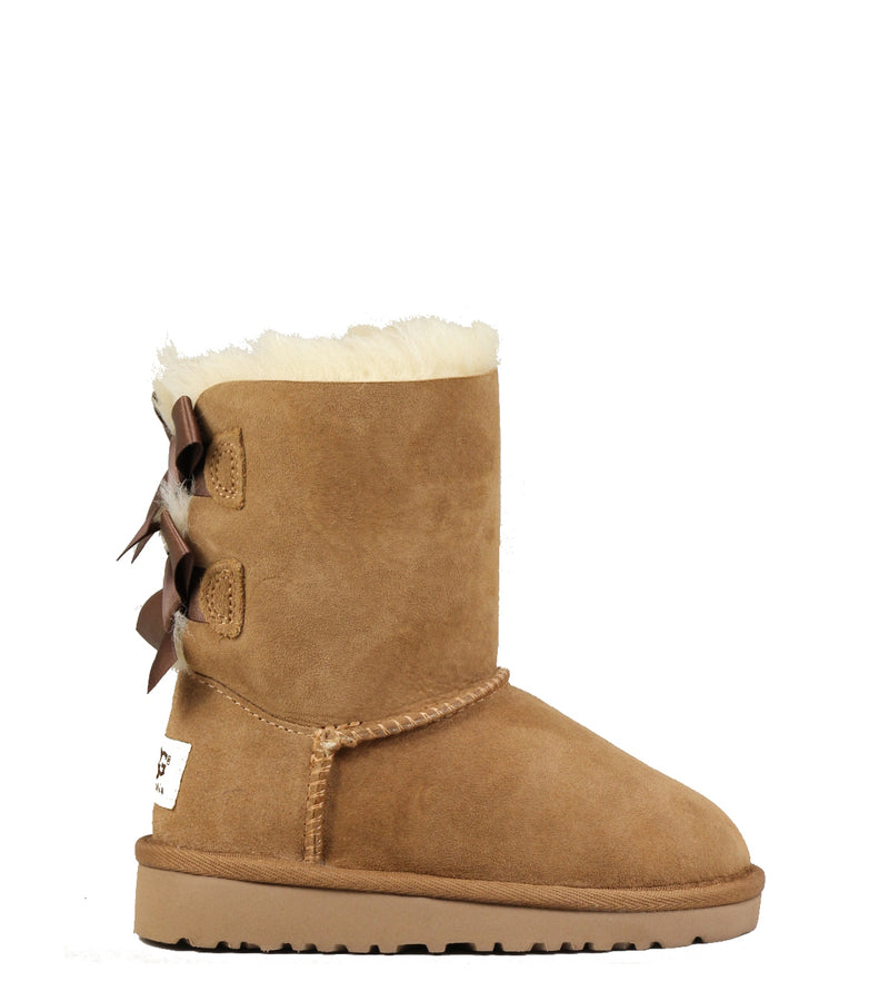 Ugg Kids Bailey Bow Chestnut Boots