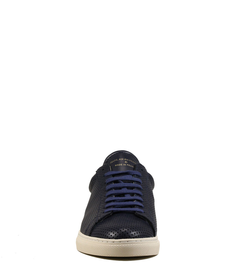 Baskets Zespa ZSP4 Nappa Perforé Navy