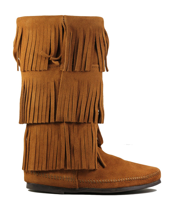 Boots Minnetonka 1632 Calf Hi 3 Layer Fringe Boot
