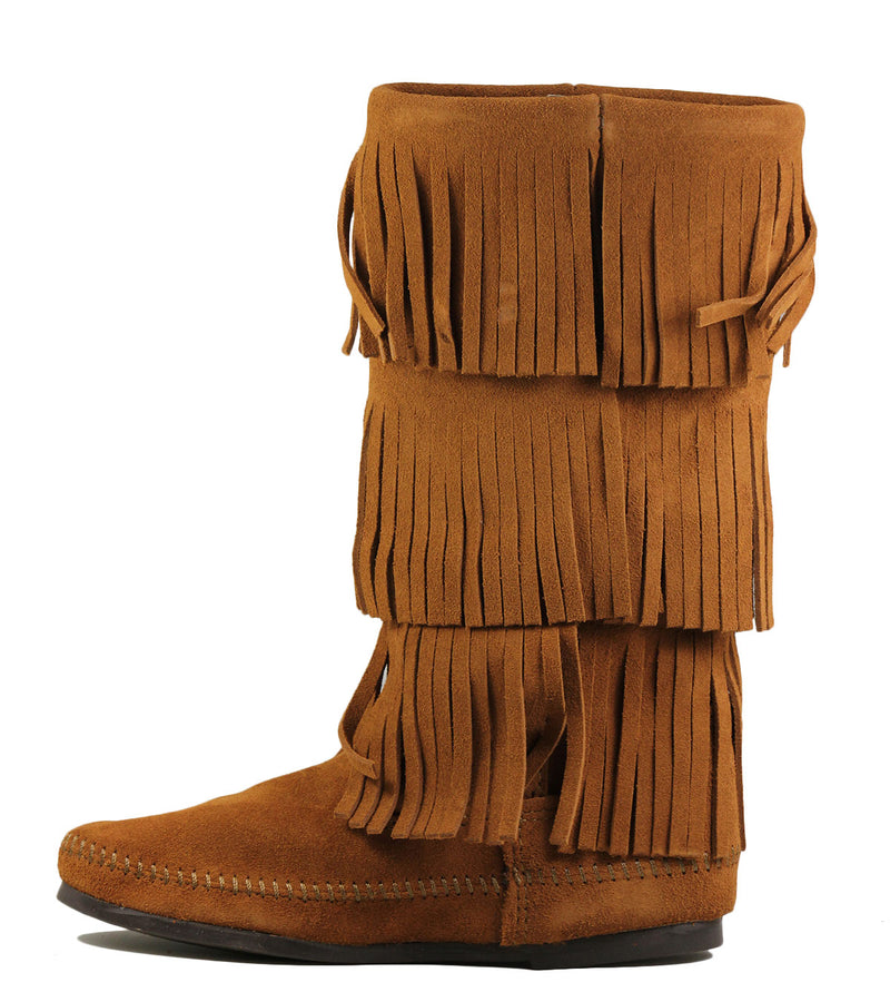 Minnetonka 1632 Calf Hi 3 Layer Fringe Boot