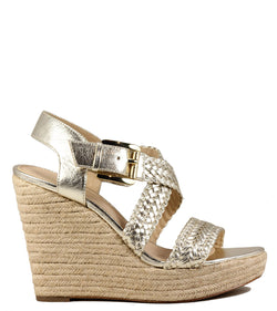 Michael Kors Giovanna Woven Wedge Gold