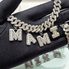 CUSTOM CUBAN INITIAL CHAIN | WHITE GOLD
