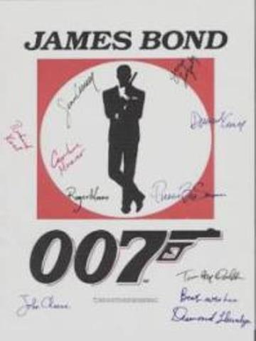 007 James Bond Autographed Movie Poster