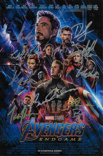 Avengers : Endgame Hand Signed Movie Poster