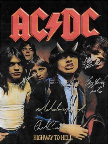 ACDC Autographed Poster