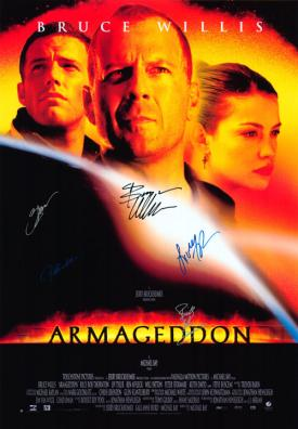Armageddon Autographed Movie Poster