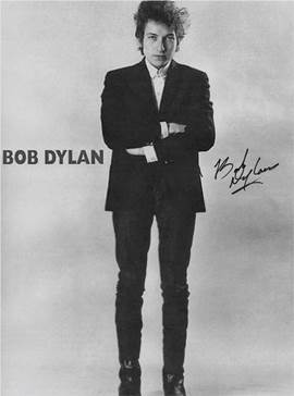 Bob Dylan Autographed Poster