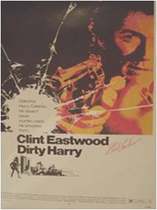 Dirty Harry Autographed Movie Poster