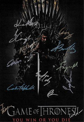 Game of Thrones Hand Signed Poster