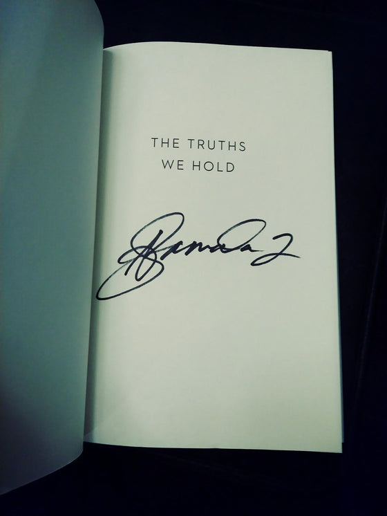 Kamala Harris The Truths We Hold Hand Signed Book