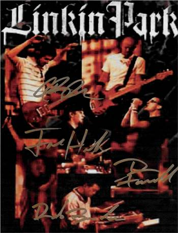 Linkin Park Autographed Poster