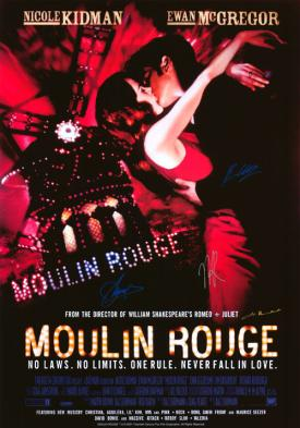 Moulin Rouge Autographed Movie  Poster
