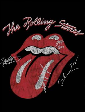 The Rolling Stones Autographed Poster