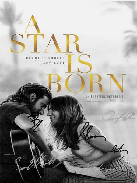 A Star is Born Lady Gaga Hand Signed Poster