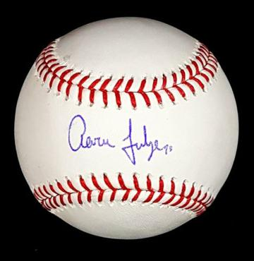 Aaron Judge Autographed Baseball