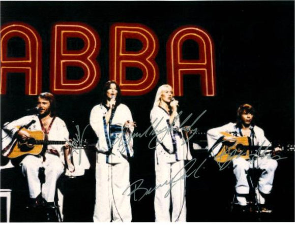 ABBA Hand Signed Concert Poster
