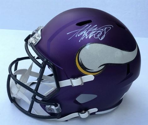 Adrian Peterson Minnesota Vikings Hand Signed Helmet